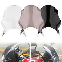 Motorcycle Screen Windshield Glass Universal For Honda Yamaha Kawasaki Suzuki