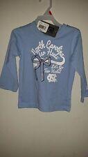 university of north carolina infant grils t shirt SIZE 2T
