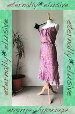 GHARANI STROK Mauve Pink Silk Applique Floaty Summer Party Holiday Dress Size 12