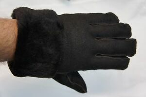 REAL GENUINE SHEEPSKIN SHEARLING LEATHER GLOVES UNISEX Fur Winter MITTENS S-2XL
