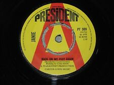 JANIE back on my feet again PRESIDENT 7-inch PROMO PT 309! Features Janie Jones