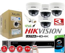 HIKVISION 4MP 4K CCTV SYSTEM POE 8CHANNEL NVR TURRET CAMERA DARKFIGHTER BUNDLE