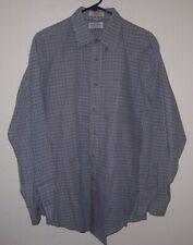 Vintage Bullock & Jones Plaid Button Front Dress Shirt Lg