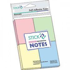 4 PACK COLORI PASTELLO Sticky Notes Stick Autoadesivo Post Quadrato Carta JOTTER MEMO IT