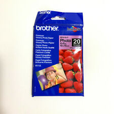 Brother Premium Glossy Photo Paper 4x6in 10x15cm 20 sheets AUS SELLER