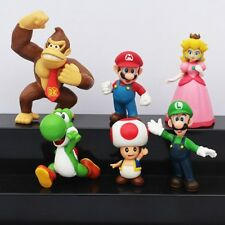 MARIO PRINCESS PEACH DONKEY KONG YOSHI 6 FIGURES TOPPER CAKE TOPPERS