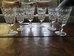A Set Of 6 Stuart Crystal Mansfield Wine Glasses Excellent Condition Signed