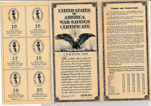 RC0151  1918   war-savings certificate combine shipping
