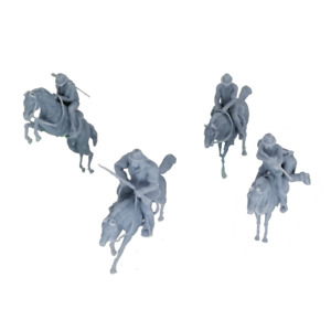 Outland Models Scenery Miniature Western Cowboy w Horse Figure Set 1:64 S Scale