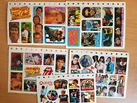 5x BRAVO Sticker-Bögen ( 80er Jahre ) -- siehe Bild