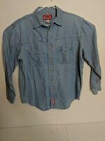 Marlboro Country Store Men's Western Denim/Jean Cotton Long Sleeve Shirt Large