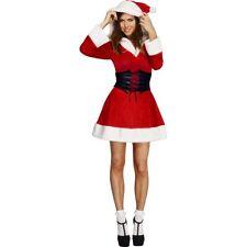 Smiffys Women's Sexy Fever Hooded Santa Helper Fancy Dress Costume Christmas Fun
