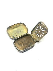 Brilliant Antique Georgian C1818 Solid Silver Vinaigrette Case #494
