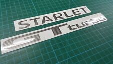 Toyota Starlet Glanza EP82 EP91 GT Turbo rear decals stickers P80 P90 ome spec
