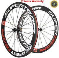 700C 60mm Front+Rear Carbon Wheelset 23mm Clincher Bicycle Carbon Wheels UD Matt