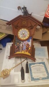 Bradford exchange Wizard Of oz Cuckoo clock. Toto comes outon the hour. With COA