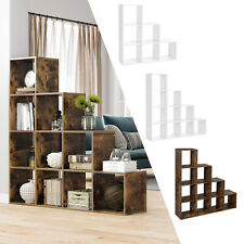 VASAGLE Treppenregal Bücherregal Raumteiler Stufenregal Standregal Regal Holz