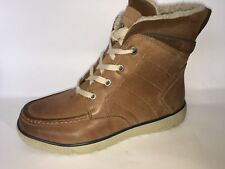 Ecco womens Boots snow Leather Slip on warm waterproof Sale comfy size (37)