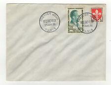 France FDC 2 timbres sur lettre 1er jour 1959 tampon Paris  /L119