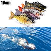 7 Segment Wobbler Fischköder Gummifisch Gummiköder Crankbait Multi verbunden10CM