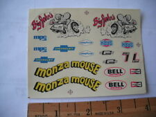 MPC 1978 MONZA MOUSE #7816  1/25th Scale Decal SHEET ONLY