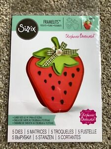 Sizzix Framelits STRAWBERRY Fold-its 5 Die Set Crafts Cardmaking Invitations New