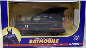 Corgi 1940's Batmobile 1:24 Scale With Opening Doors DC Comics Batman (MIB)
