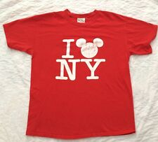 Mickey Mouse I Love NY T-shirt Size Large World Of Disney NYC New York Red