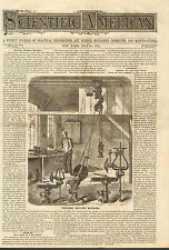 Portable Drilling Machines, w/ Text, 1873 Antique Print. Cover Only.