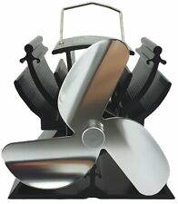 VODA Wood Stove Eco Fan Heat Powered Ultra Silent Quiet Triple Blade QUALITY New