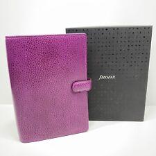 Filofax Personal Size Finsbury Organiser Diary Book Raspberry Leather 025305 New