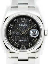 Rolex Datejust Steel Oyster Bracelet Black Jubilee Dial Mens Watch 116200
