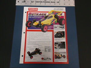VINTAGE 1991 KYOSHO OUTRAGE R/C BUGGY BROCHURE W/PARTS LIST 2 SIDED *G-COND*