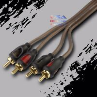 15FT CAR STEREO AUDIO RCA INTERCONNECT COPPER ULTRA FLEXIBLE CABLE  HOME MARINE