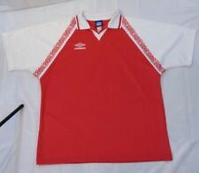 Vintage Umbro Red/White Polyester Soccer Shirt With Collar