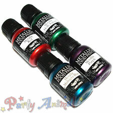 Rainbow Dust- Metallic Edible Food Paint 4 Set- XMAS PARTY Blue/Green/Red/Purple