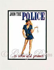 """Police Girl"" 11x14 Print by Hawaii watercolor artist Garry Palm"