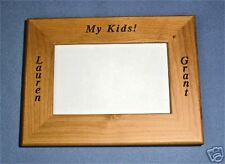 Personalized 4x6 Wood Picture Frame We engrave it free!