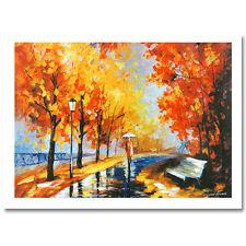 Leonid Afremov White Umbrella Hand Embellished Canvas w/coa 13/50