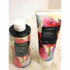 KORRES LILY BOUQUET SHOWER GEL AND BODY BUTTER