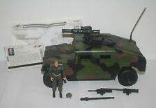 GI Joe 2004 Jungle Strike Humvee With Rollbar File Card & Blueprints