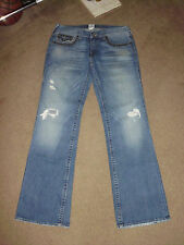 TRUE RELIGION Men's BILLY STUDDED 33 x 35 High Plains USA Made Rock Jeans TR