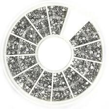 1800 PCS 1.5mm Clear Nail Art Glitter Round Rhinestones For Nail Tips With Wheel