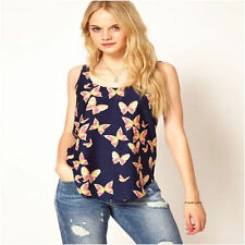 NEW Darling Butterfly Print Tank/Shirt/Top/Blouse-Size XXL-Fits like XL.