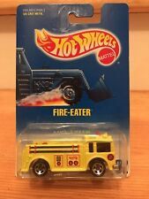 1991 Hot Wheels FIRE EATER Truck Yellow  DW4 Blue Card #82 Die Cast Free shippin