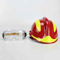 Fire Fighter Rescue Helmet Protective Glasses Red China CAPF Safety Protector F2
