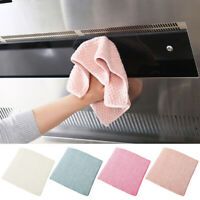 10pcs Washing Dish Cloth Washing Towel Kitchen Table Cleaning Wiping Rags KRW