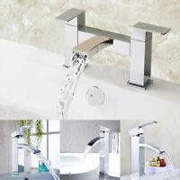 Waterfall Designer Bathroom Taps Basin Bath Mixer Filler Shower Tap Set UK