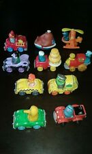 LOT of 10 Vintage 1980's Sesame Street Muppets Die-Cast Cars made in Hong Kong