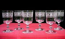 BACCARAT WATER WINE GLASSES WEINGLÄSER VERRE A EAU VIN CRISTAL GRAVÉ 3458 19ÉME